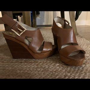 Michael Kors leather wedges